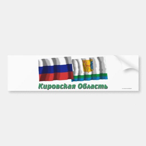 Russia and Kirov Oblast Bumper Stickers