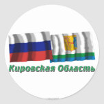 Russia and Kirov Oblast Stickers