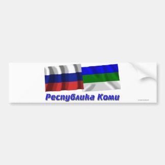 Russia and Komi Republic Bumper Stickers