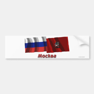 Russia and Moscow Federal City Car Bumper Sticker