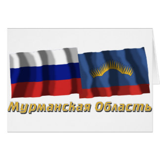 Russia and Murmansk Oblast Card