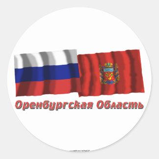 Russia and Orenburg Oblast Classic Round Sticker