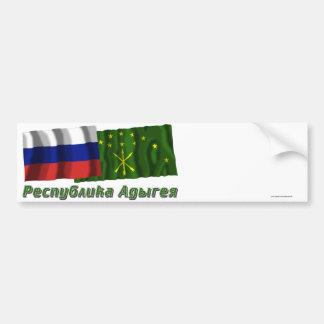 Russia and Republic of Adygea Bumper Sticker