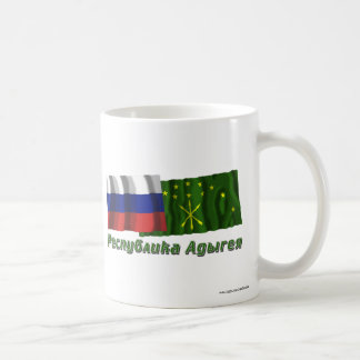 Russia and Republic of Adygea Classic White Coffee Mug