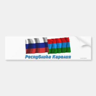 Russia and Republic of Karelia Bumper Sticker