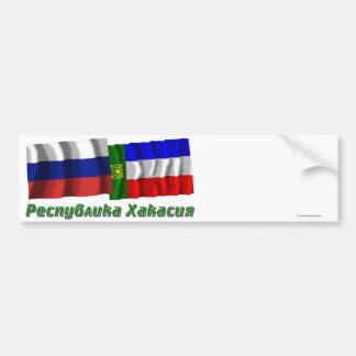 Russia and Republic of Khakassia Car Bumper Sticker