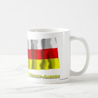 Russia and Republic of North Ossetia-Alania Classic White Coffee Mug