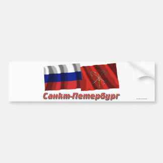 Russia and Saint Petersburg Car Bumper Sticker