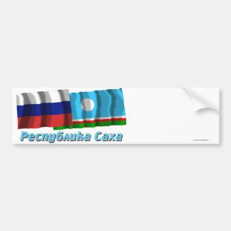 Russia and Sakha Republic Bumper Sticker