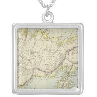 Russia and Siberia Square Pendant Necklace