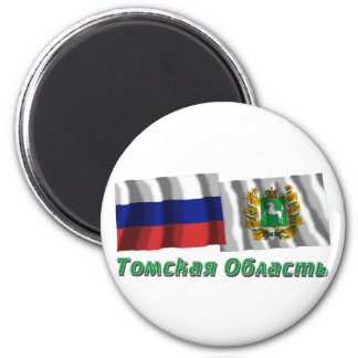 Russia and Tomsk Oblast 2 Inch Round Magnet