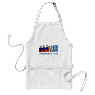 Russia and Tyva Republic Adult Apron