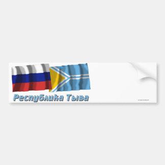 Russia and Tyva Republic Bumper Sticker