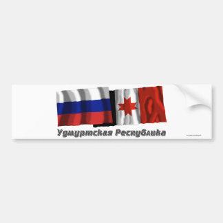 Russia and Udmurt Republic Bumper Stickers