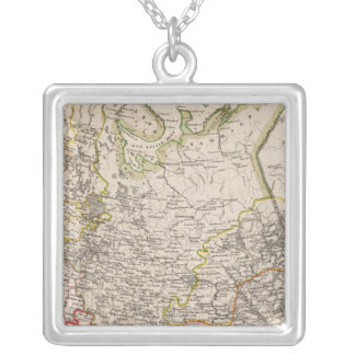 Russia and Urkraine Silver Plated Necklace