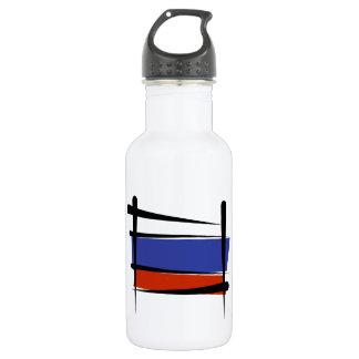 Russia Brush Flag 18oz Water Bottle