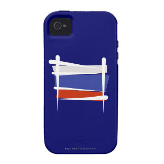 Russia Brush Flag iPhone 4 Covers