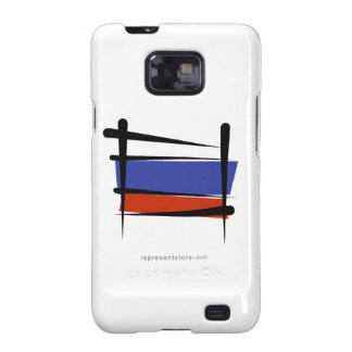 Russia Brush Flag Samsung Galaxy SII Cases