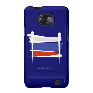 Russia Brush Flag Galaxy SII Cases