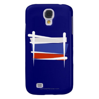 Russia Brush Flag Galaxy S4 Cases