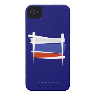 Russia Brush Flag iPhone 4 Cases