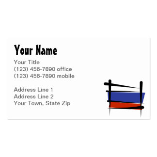 Russia Brush Flag Double-Sided Standard Business Cards (Pack Of 100)