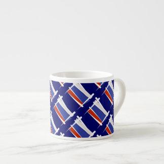 Russia Brush Flag Espresso Cup