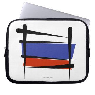 Russia Brush Flag Computer Sleeve