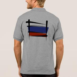 Russia Brush Flag Polo T-shirt