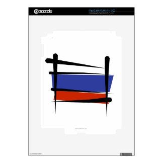 Russia Brush Flag iPad 2 Skin