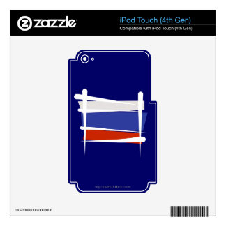 Russia Brush Flag Skin For iPod Touch 4G