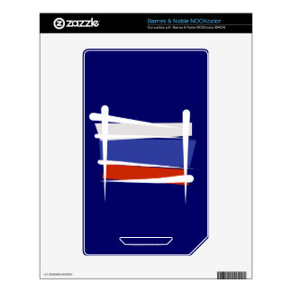 Russia Brush Flag Decals For The NOOK Color
