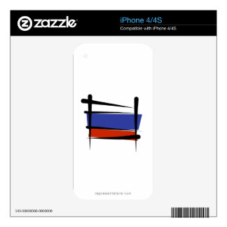 Russia Brush Flag iPhone 4S Skin