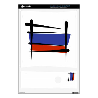 Russia Brush Flag Xbox 360 S Skin