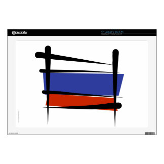 """Russia Brush Flag 17"""" Laptop Decal"""