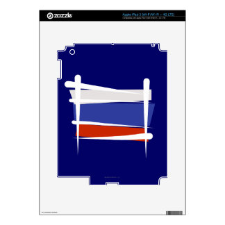 Russia Brush Flag Decal For iPad 3