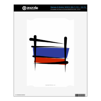 Russia Brush Flag Skins For NOOK