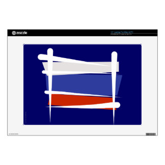 Russia Brush Flag Decal For Laptop