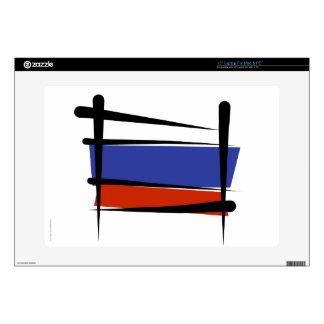 Russia Brush Flag Laptop Decals