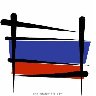 Russia Brush Flag Statuette
