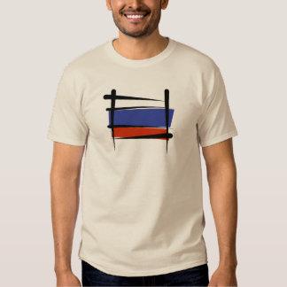 Russia Brush Flag T Shirt