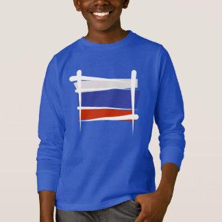 Russia Brush Flag T-Shirt