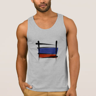 Russia Brush Flag Tank Top