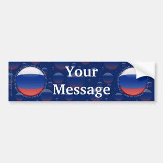 Russia Bubble Flag Bumper Sticker