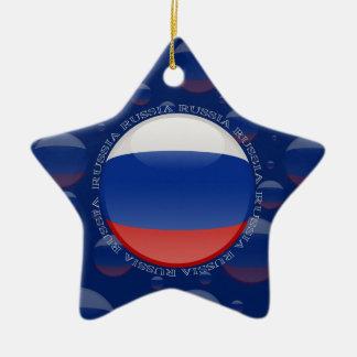 Russia Bubble Flag Ceramic Ornament