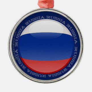 Russia Bubble Flag Metal Ornament
