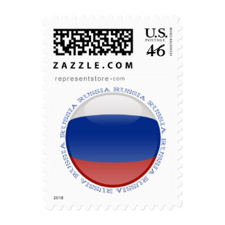 Russia Bubble Flag Postage Stamp