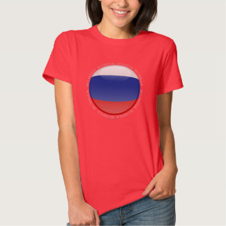 Russia Bubble Flag T-shirt