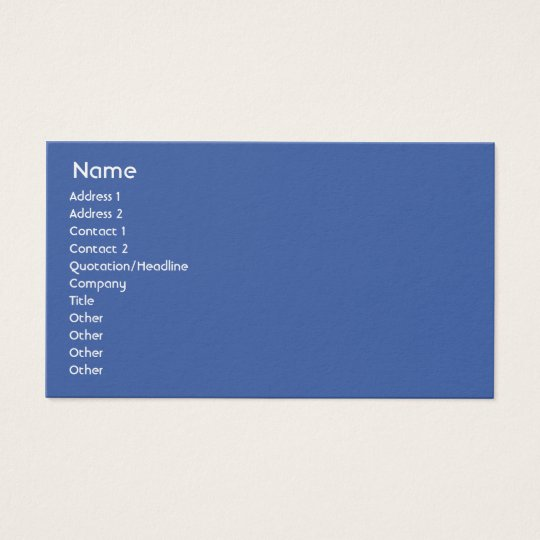 Russia - Business Business Card