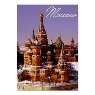 Russia Capital Moscow Kremlin Poster
